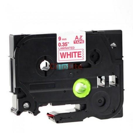 Brother TZE-435 White / RedFita Laminada Compatível