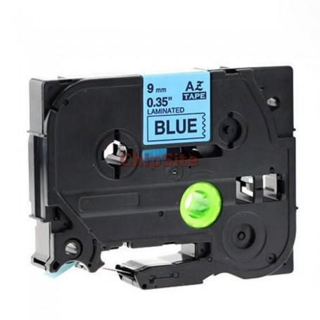 Brother TZE-521 Black / Blue Fita Laminada Compatível