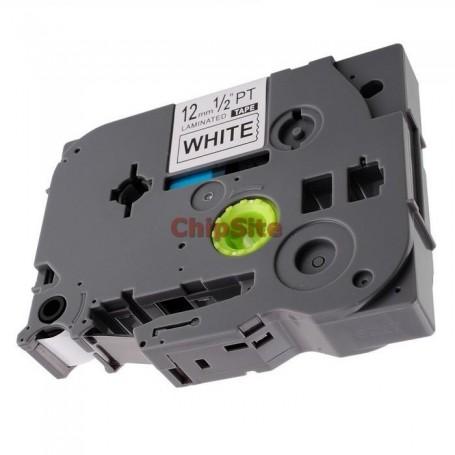 Brother TZE-535 White / Blue Fita Laminada Compatível