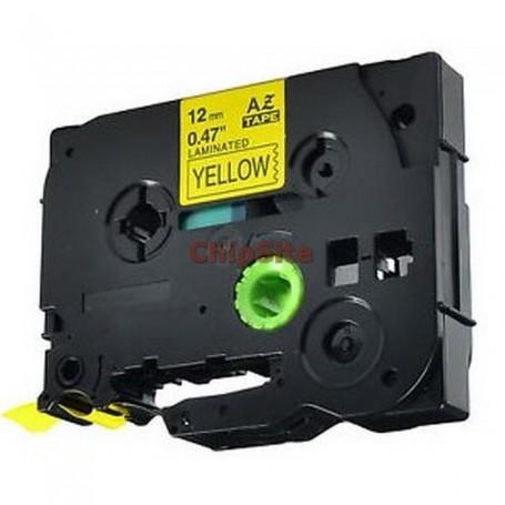 Brother TZE-631 Black / Yellow Fita Laminada Compatível
