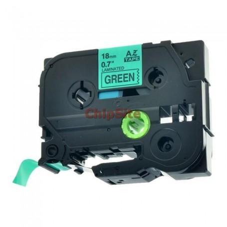Brother TZE-721 Black / Green Fita Laminada Compatível
