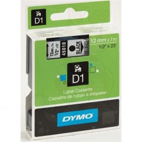 DYMO 45010 Black / Transparent Fita Laminada Compatível