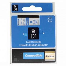 DYMO 45011 Blue/Transparent Fita Laminada Compatível