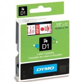 DYMO 45012 Red/Transparent Fita Laminada Compatível