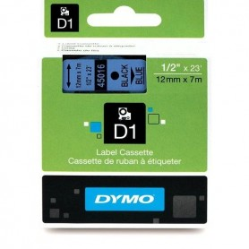 DYMO 45016 Black/Blue Fita Laminada Compatível