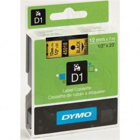 DYMO 45018 Black/Yellow Fita Laminada Compatível