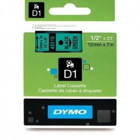 DYMO 45019 Black/Green Fita Laminada Compatível