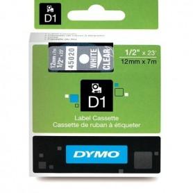 DYMO 45020 White/Transparent Fita Laminada Compatível