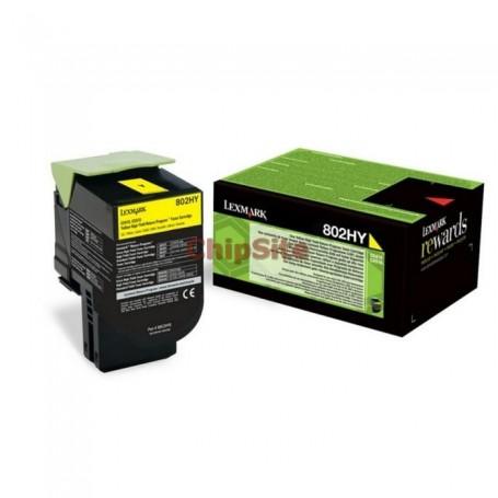 Lexmark 80C2HYE Yellow Toner