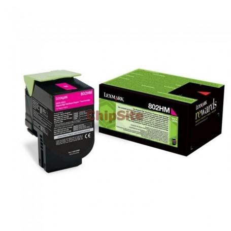 Lexmark 80C2HME Magenta Toner