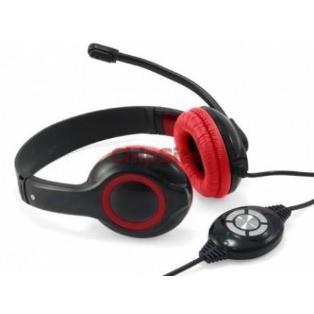 Headset Conceptronic USB Preto e vermelho