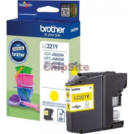 Brother LC221Y Yellow