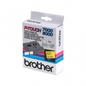 Brother TX641 Fita Black/Yellow Original