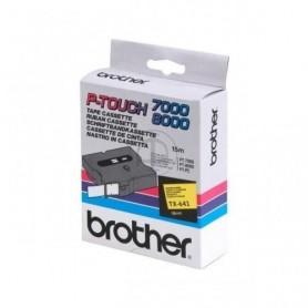 Brother TX641 Fita Black/Yellow Original