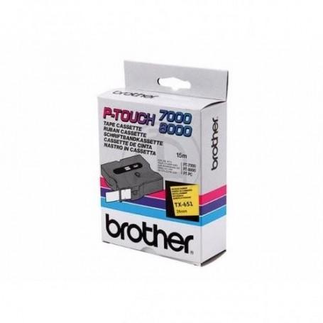 Brother TX651 Fita Black/Yellow Original