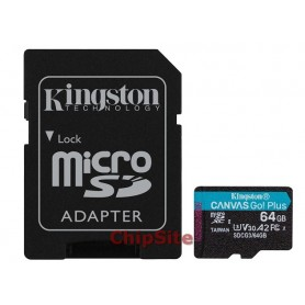 MicroSD Kingston Canvas Go Plus 64GB