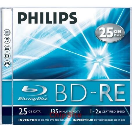 PHILIPS Blu-Ray ReWritable 25GB 2x Jewel Case (5 uni.)