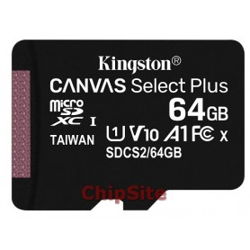 Kingston MicroSD Canvas Select Plus 64GB 100R A1 C10
