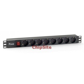 Equip 8 bay CEE7 / 4 w. switch