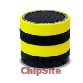 Coluna Conceptronic Hoyt  Bluetooh C/ Micro Black/ Yellow