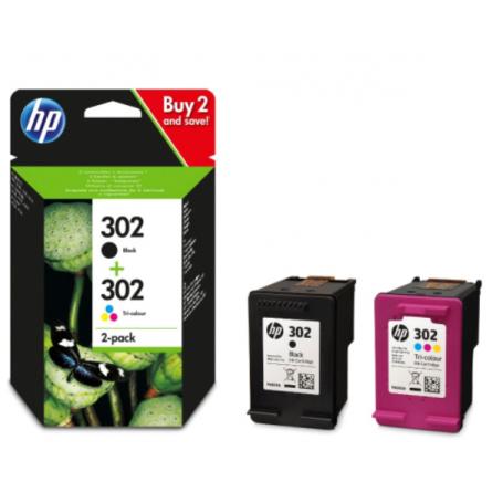 HP 302 Pack (Preto + Tricolor)
