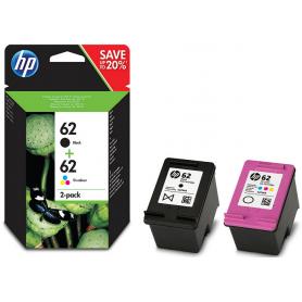 HP 62 Pack (Preto + Tricolor)