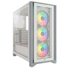 Corsair iCUE 4000X RGB Tempered Glass  White