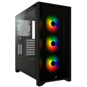 Corsair iCUE 4000X RGB Tempered Glass  Black